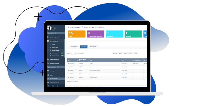 Mi Property Portal Dashboard for Maintenance Tracking